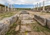 Remains of the Roman city of Perge in the Mediterranean