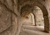 Arched gallery in the Roman amphitheatre in the Mediterranean