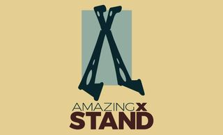 The Amazing X Stand; sturdy durable and folds flat.