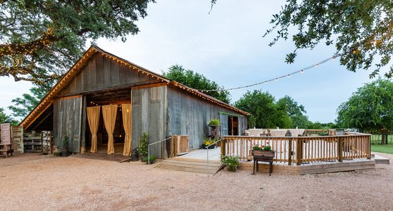 Texas Rock House rustic Barn and Deck