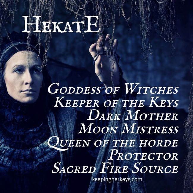 Hekate Hecate Goddess of Witches, Crossroads and the Moon. Keeper of the Keys