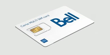 Photo d'une carte SIMS Bell