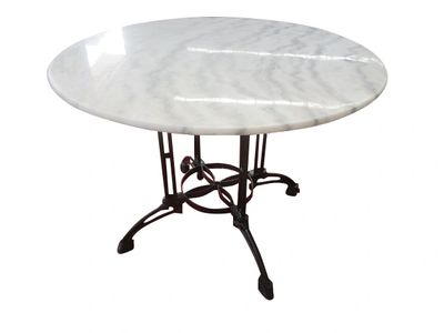 Indoor, outdoor, round, 120cm, dining, table, marble, waterproof, treated, habitatandstyle,