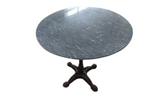 Black, Beauty, round, marble, dining, table, 80cm, waterproof, habitatandstyle,