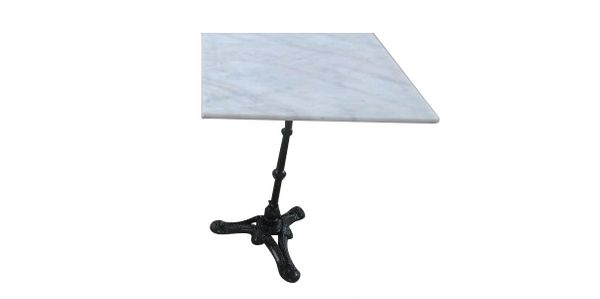 square, dining, table, marble, cast iron, waterproof, adjustable, cafe, patio, habitatandstyle,