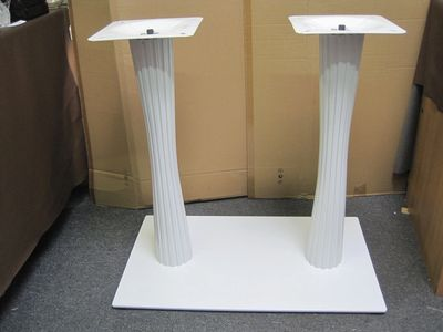 White, on White, Rectangle, Dining, Table, Base, rectangle, double pedestal, habitatandstyle,