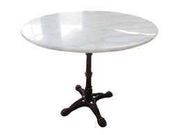 waterproof, seat 4, dining, table, marble, cast iron, indoor, outdoor, habitatandstyle,