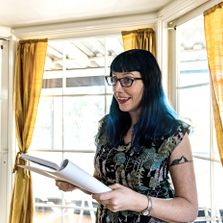 Danielle Vincent at a reading