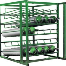 Oxygen and medical gas cylinder tank carts, racks and brackets