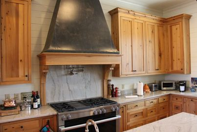 Custom Pecky Cypress Kitchen