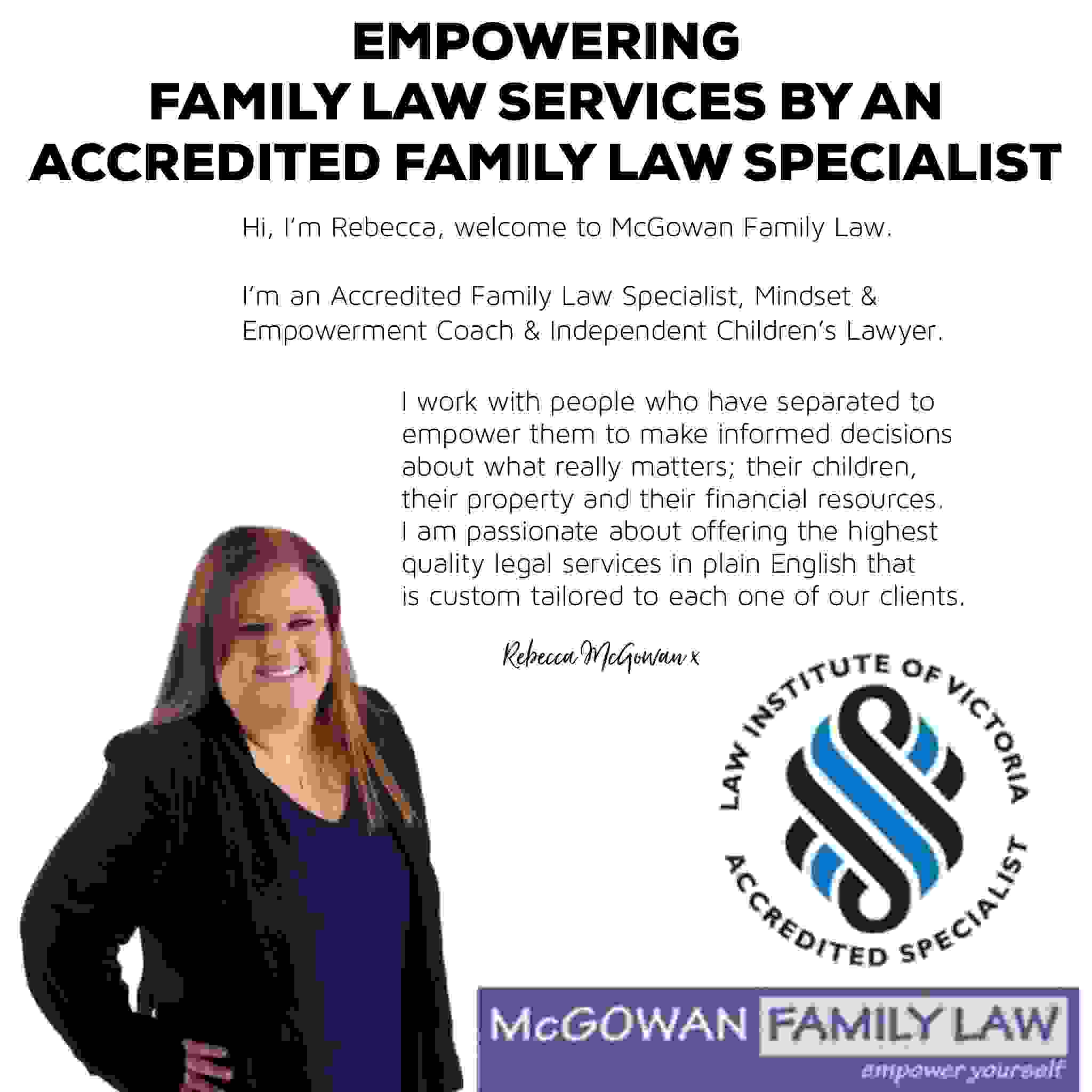 #mcgowanfamilylaw #specialist #familylaw #divorce #separation #theseparationcoach #rebeccamcgowan