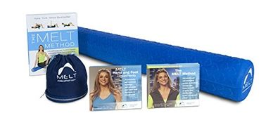 The MELT Super Bundle contains the MELT Soft Body Roller, the 3-disc MELT Method DVD, the Hand and F
