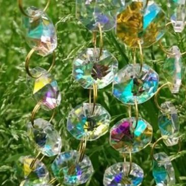 rainbow chandelier crystals
