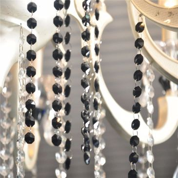 black teardrop chandelier crystals