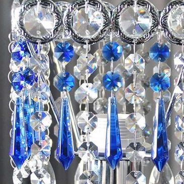 Buy low price, high quality blue crystal chandelier prisms with worldwide  same day shipping