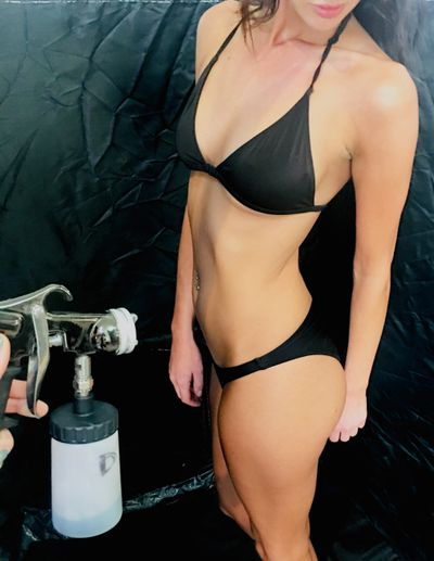 airbrushed spray tanning