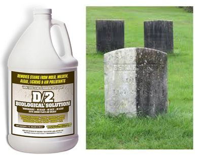 D/2 Biological Cleaner used to clean monuments