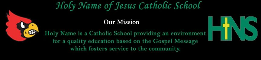 Holy Name of Jesus Catholic School mission statement
