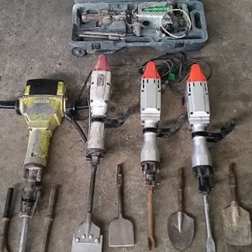 Jack Hammer Hire, Tile Lifter Hire,