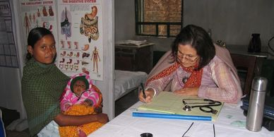 Dr. Barbara Nath Wiser volunteers at Nuxalbari
