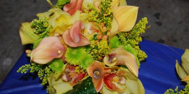calla lily and orchids june wedding ,Osterville Massachusetts