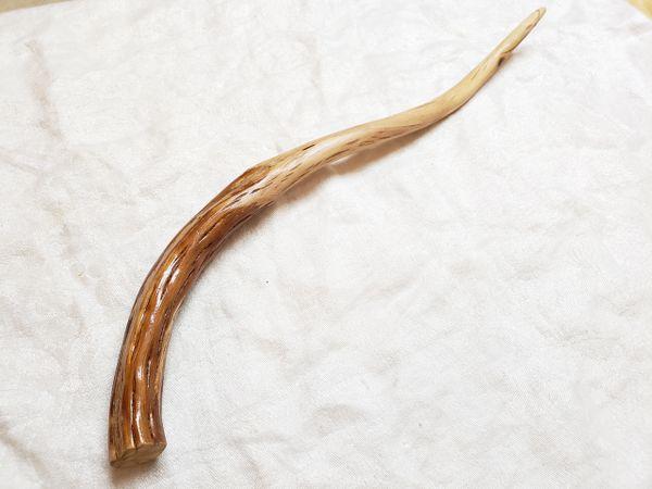 12.5 Hand made hardwood and brass wand