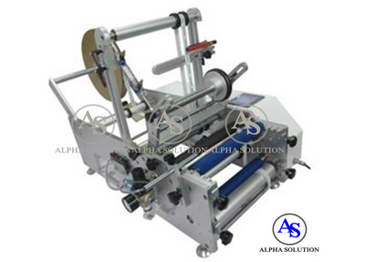 Two Sides Labels Semi Auto Labeling Machine for round bottles, Allows to apply 2 labels at one time