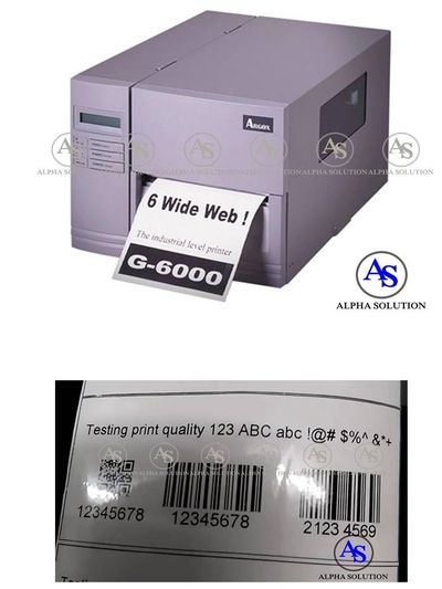 Argox 6 inches, industrial grade printer, expiry date, barcode, batch no., 300M ribbon capacity
