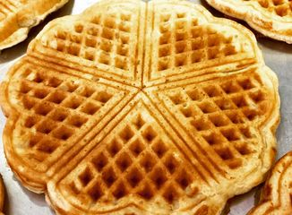 Norwegian Heart Waffle.  5 hearts make up this slim delicious waffle.