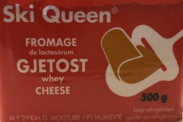Ski Queen Gjetost.  A creamy, sweet, goat cheese.