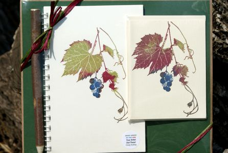 Gift Set example  Wild Grapes journal and notecards from Kolling Cards and Things Made Here!