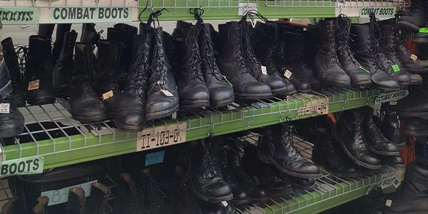 Combat boots, tactical boots, parade boots to name a few
