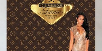 Custom backdrops and vinyl banners for any occasion. BannersbyRoz Louis Vuitton Inspired Backdrop.