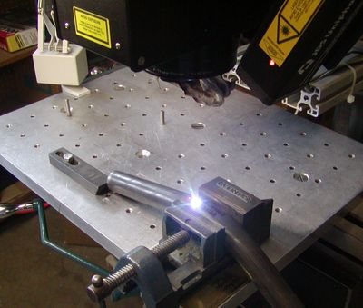 Laser marking in process