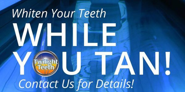 Teeth Whitening, whiten while you tan or at home