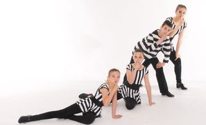 Members of The Dance Center's Happy Feet Tap Company