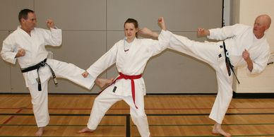 Dynamic Karate Calgary - Color belt grading.