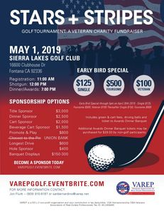 Veterans Association of Real Estate Professionals (VAREP) Annual Golf Tournament May 1, 2019