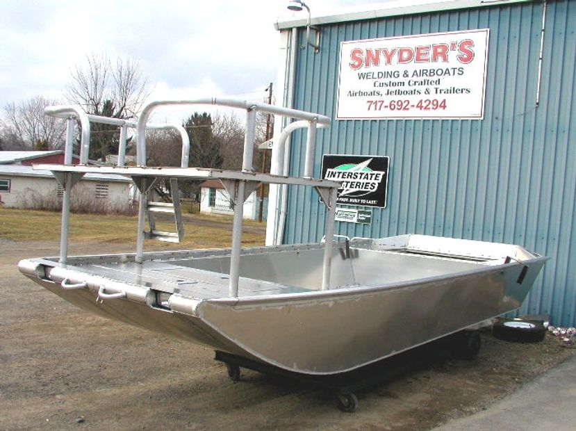 Snyder Boats has been building jet boats since the early 90's and Air Boats before that. We are a FU