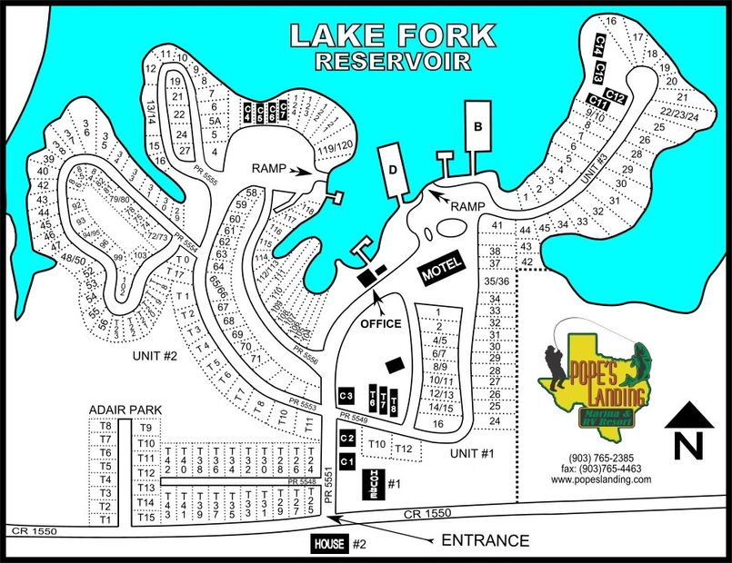 POPE'S LANDING MARINA PARK MAP LAYOUT