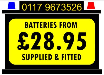 Cheap Car Batteries Kingswood Bristol, We Stock A Range Of Cheap Batteries With Free Fitting