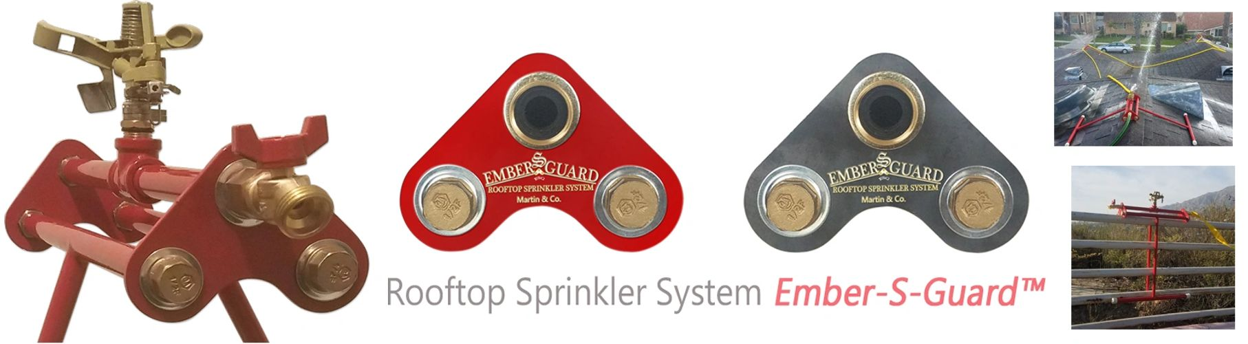 "Roof sprinkler system One Link of many in the ""chain of wildfire survival"""