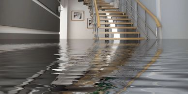 MD Restoration WATER DAMAGE FLOODED BASEMENT picture