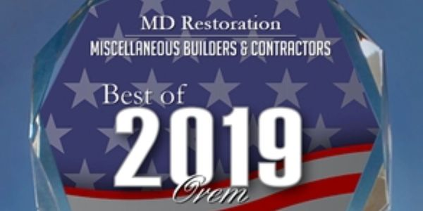 MD Restoration Best of Orem Contractor 2019 picture