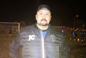 Arizona FC 2008 boys head coach Jesus Cardiel