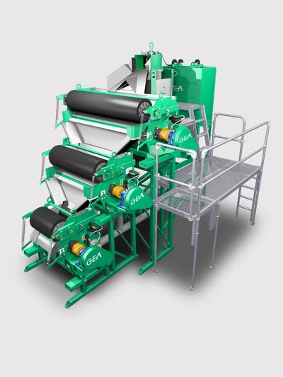 Three roller GEA Xpress manure separator.