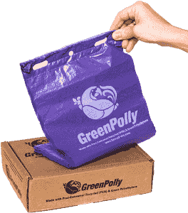 Unscented GreenPolly Poop Bags (Purple) - Internet Pack - 250 Bags
