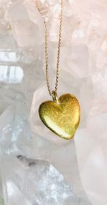 24kt. Pure gold - Heart Unites Hand made by David Whipple Goldsmith