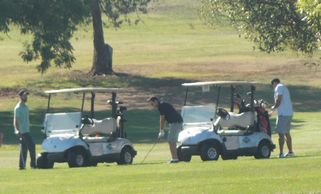 Golfers enjoy the day