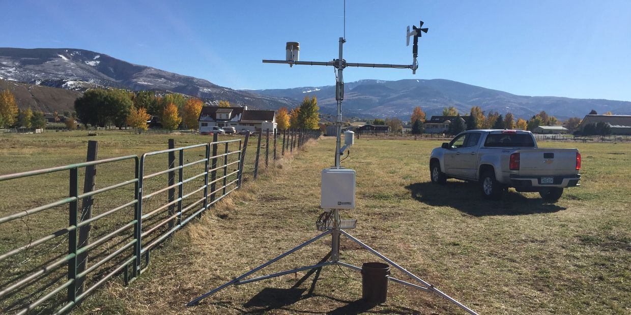 Gypsum, CO CoAgMet Station installed in 2017